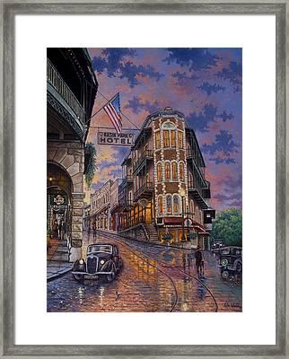 Spring Street Memories Framed Print by Kyle Wood