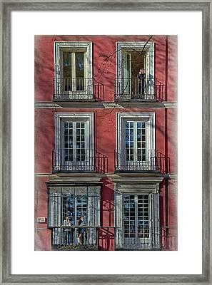 Spring Sunshine In Madrid Framed Print by Joan Carroll