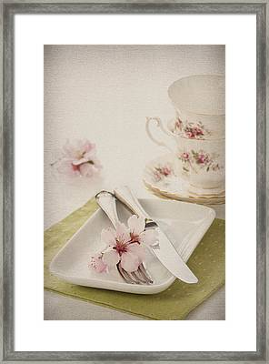 Spring Table Setting Framed Print by Amanda And Christopher Elwell