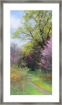 Spring Trail Framed Print by Anna Rose Bain
