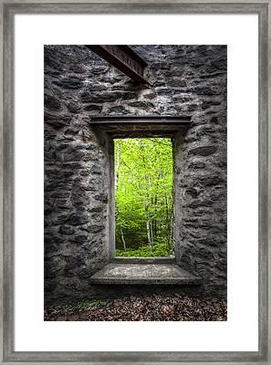 Spring Within Cunningham Tower Framed Print by Gary Heller