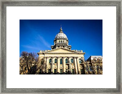 Springfield Illinois State Capitol Building Framed Print by Paul Velgos