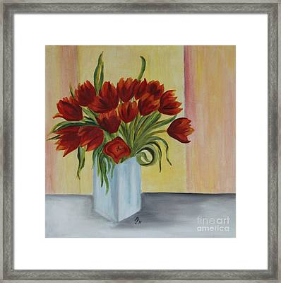Springflowers - Oil Painting Framed Print by Christiane Schulze Art And Photography