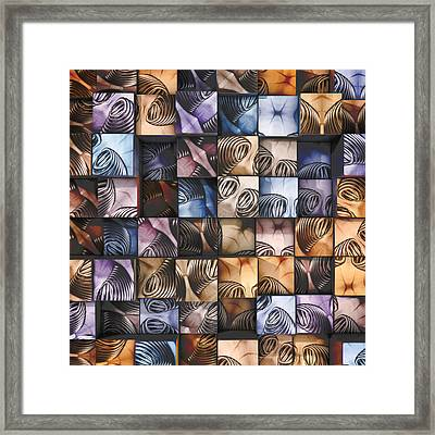 Springs And Squares Framed Print by Scott Norris