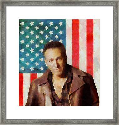 Springsteen American Icon Framed Print by Dan Sproul