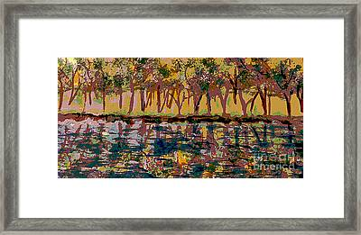 Springtime Along The Muddy River Framed Print by Rita Brown