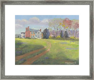Springtime At Carnton Framed Print by Tommy Thompson