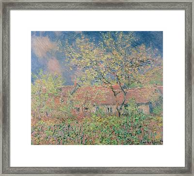Springtime At Giverny Framed Print by Claude Monet