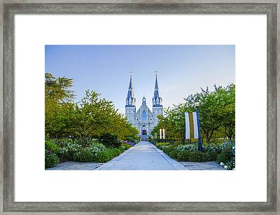 Springtime At Villanova College Framed Print by Bill Cannon