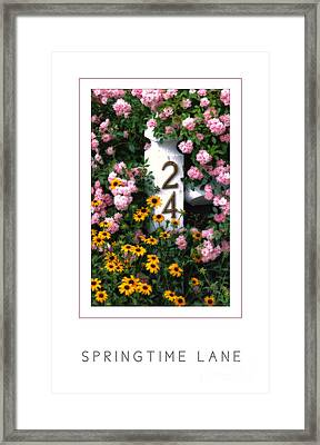 Springtime Lane Poster Framed Print by Mike Nellums
