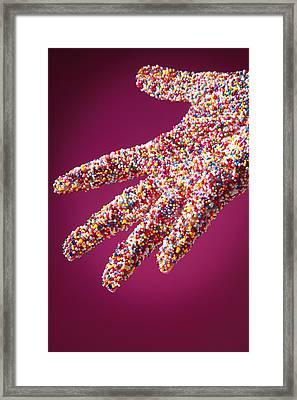 Sprinkle Covered Hand Framed Print by Don Hammond