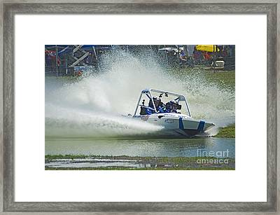 Sprint Boat Racing Framed Print by Nick  Boren
