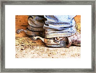 Spurs Framed Print by Karyn Robinson