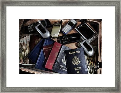 Spy Kit Framed Print by Olivier Le Queinec