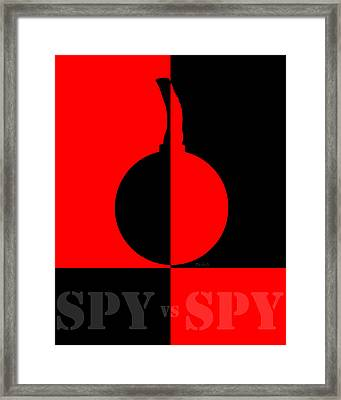 Spy Vs Spy Framed Print by Bob Orsillo