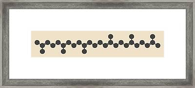 Squalene Natural Hydrocarbon Molecule Framed Print by Molekuul