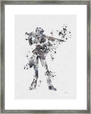 Squall Leonhart Framed Print by Rebecca Jenkins