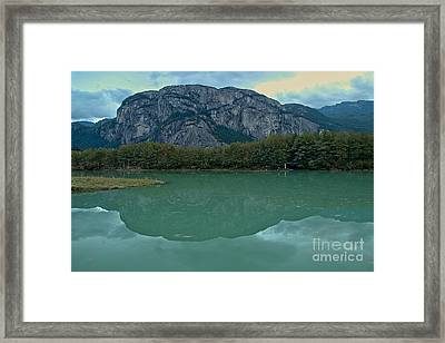 Squamish Chief  Reflections In British Columbia Framed Print by Adam Jewell