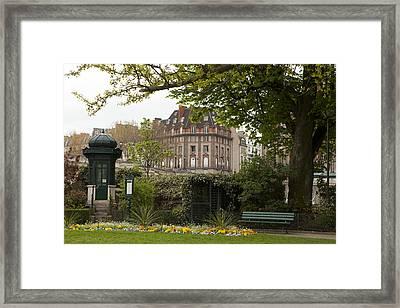 Square Du Vert-galant 2 Framed Print by Art Ferrier