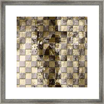 Square Mania - Old Man 02 Framed Print by Emerico Imre Toth