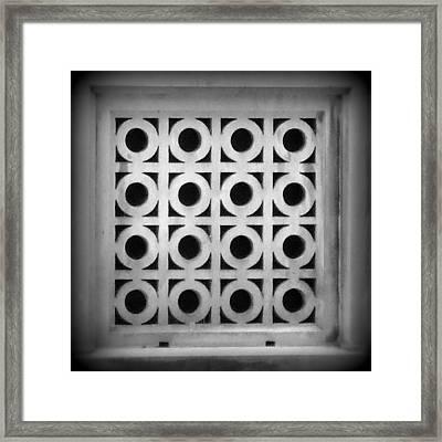Square Pegs Round Holes - Black And White Framed Print by Joseph Skompski