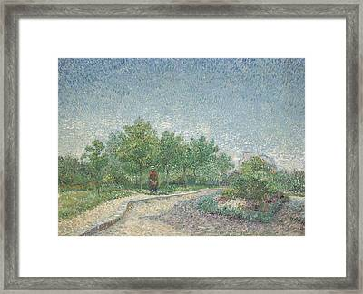 Square Saint Pierre Framed Print by Vincent van Gogh