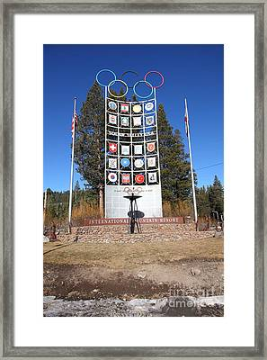 Squaw Valley Usa 5d27573 Framed Print by Wingsdomain Art and Photography