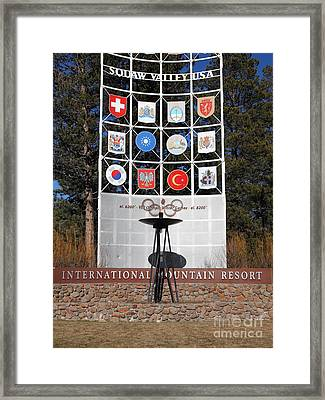 Squaw Valley Usa 5d27574 Framed Print by Wingsdomain Art and Photography