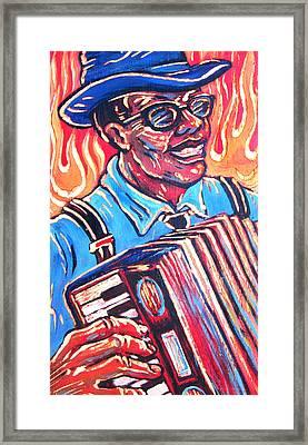 Squeezebox Blues Framed Print by Robert Ponzio