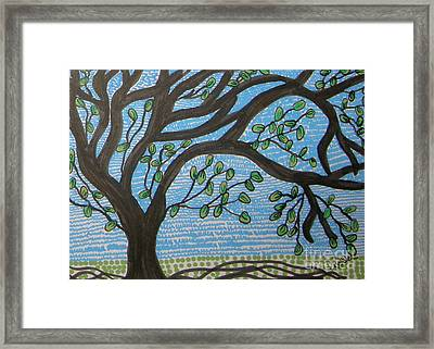 Squiggly Tree Framed Print by Marcia Weller-Wenbert
