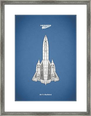 Sr-71 Blackbird Framed Print by Mark Rogan