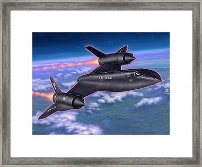 Sr-71 Blackbird Framed Print by Stu Shepherd