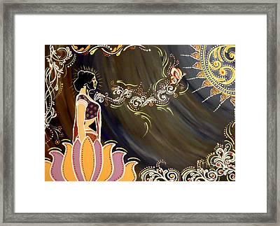 Sri Lalita Framed Print by Meenakshi Malhotra