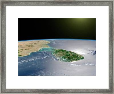 Sri Lanka Framed Print by Nasa