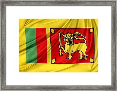 Sri Lankan Flag Framed Print by Les Cunliffe