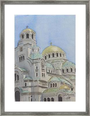 St Alexander Nevsky Cathedral Sofia Bulgaria Framed Print by Henrieta Maneva
