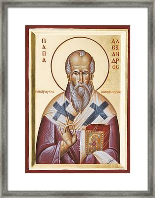 St Alexander Of Alexandria Framed Print by Julia Bridget Hayes