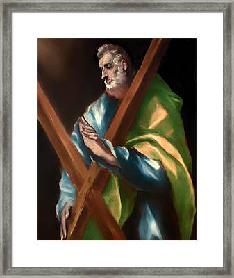 St Andrew Framed Print by Mountain Dreams