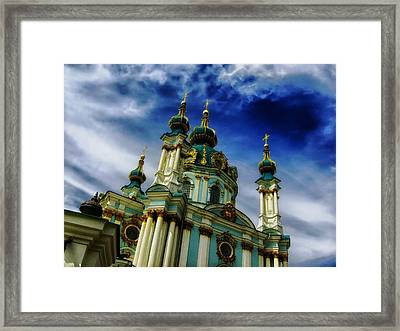 St Andrew In Kiev Framed Print by Mountain Dreams