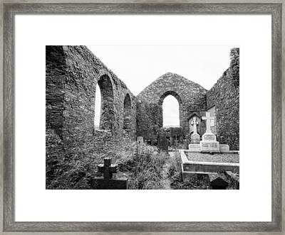 St. Andrews Church Ruins Framed Print by Ron St Jean