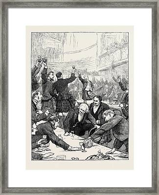 St. Andrews Day Banquet Of The Scottish Corporation At St Framed Print by English School
