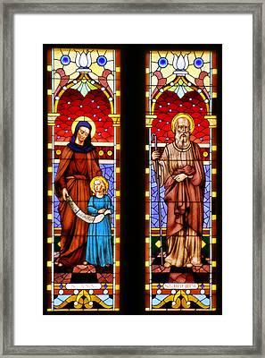 St Ann And St Joachim Framed Print by Christine Till