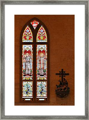 St Anthony And St Francis Xavier Framed Print by Christine Till