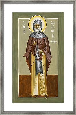 St Anthony Framed Print by Julia Bridget Hayes