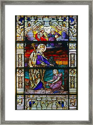 St Augustine By The Sea Shore Talking To A Child Framed Print by Christine Till