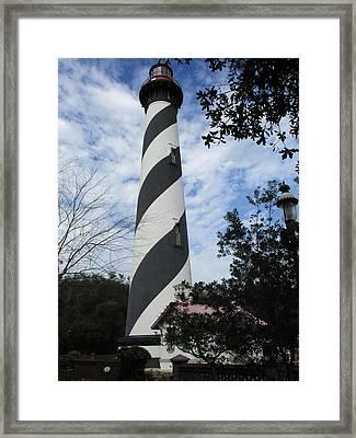 St. Augustine Light Lighthouse Framed Print by Georgia Fowler