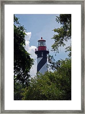 St. Augustine Light Framed Print by Skip Willits
