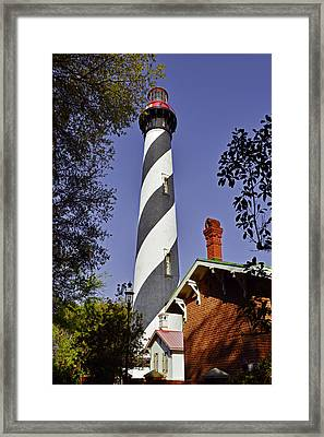 St Augustine Lighthouse - Old Florida Charm Framed Print by Christine Till