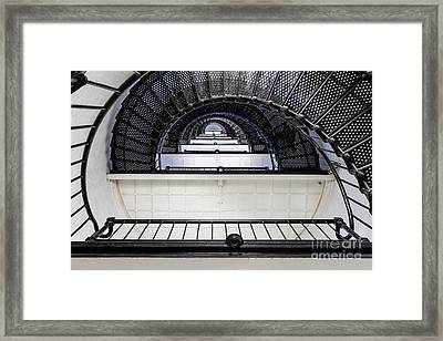 St. Augustine Lighthouse Staircase St. Augustine Florida Framed Print by Dawna  Moore Photography