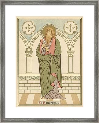 St Bartholomew Framed Print by English School